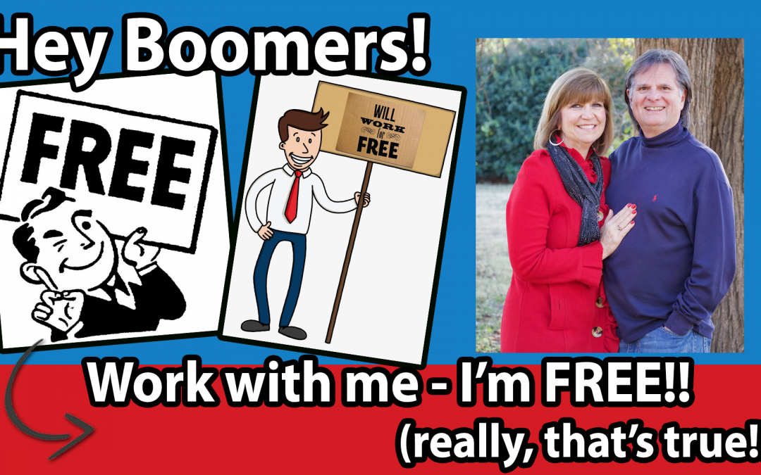 Work with me – I'm FREE